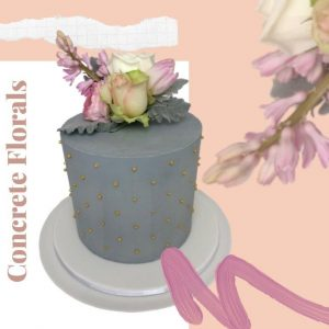 Concrete Florals Every Day Cake