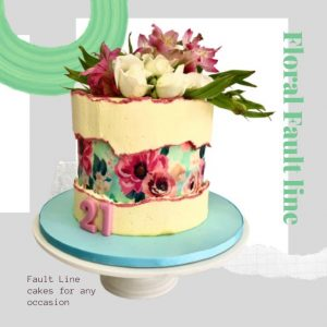 Floral Fault Line Every Day Cake